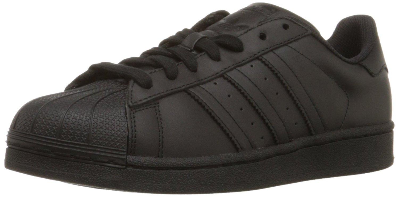 Adidas hombre  Superstar Casual zapatilla negro / negro / negro af5666 eBay