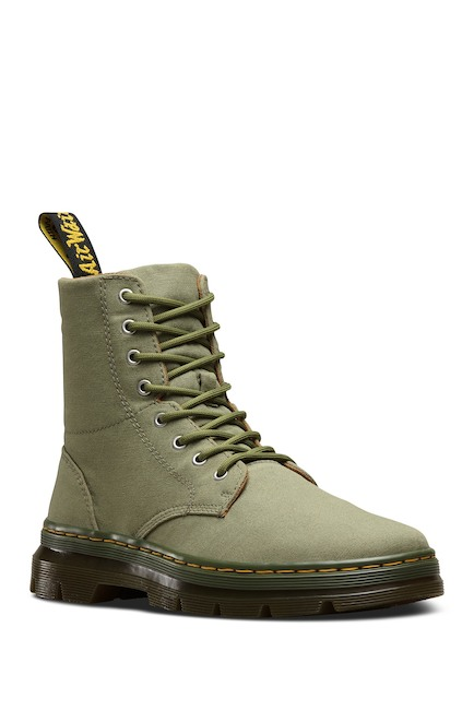 Dr. Martens Unisex Combs Lace Mid Olive Textile Lace Combs Up Combat Ankle Fashion Stivali 0f3a66