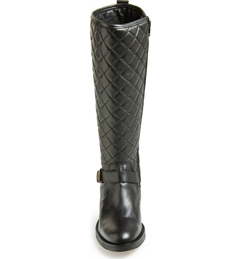 BRONX BRONX BRONX USA MILL FORD schwarz QUILTED LEATHER HIGH LEATHER RUBBER SOLE RIDING Stiefel 4c679c