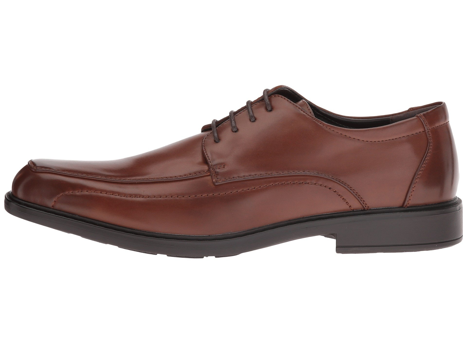 Kenneth Cole Unlisted Secret Mission Cognac Lace Up Wear to Work Dress Shoe