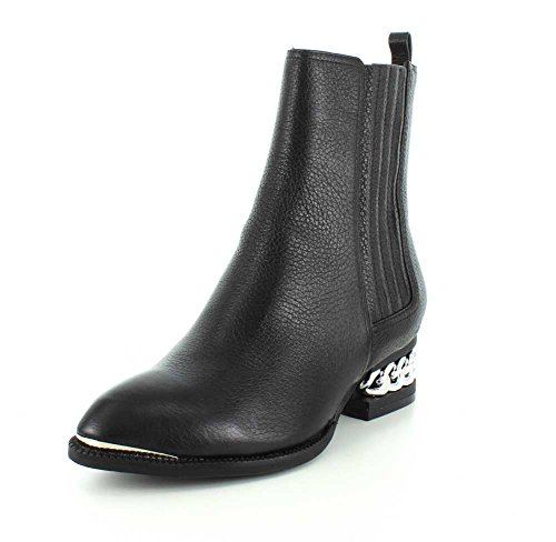 Jeffrey Campbell Womens Howell Chelsea Pointed Toe Pull On Black Boot