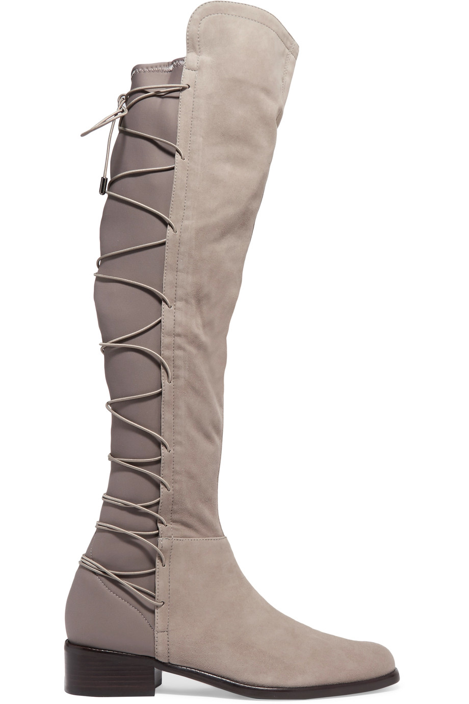 SCHUTZ Talia Mouse Lace-up Neoprene Back Stretch Fitted Suede Suede Fitted Knee Riding Stiefel 669c59