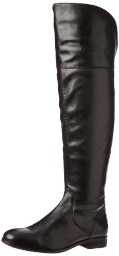 LUICHINY PEG GEE OVER THE THE OVER KNEE BLACK LEATHER SILVER BACK ZIPPER THIGH HIGH Stiefel 5016a9