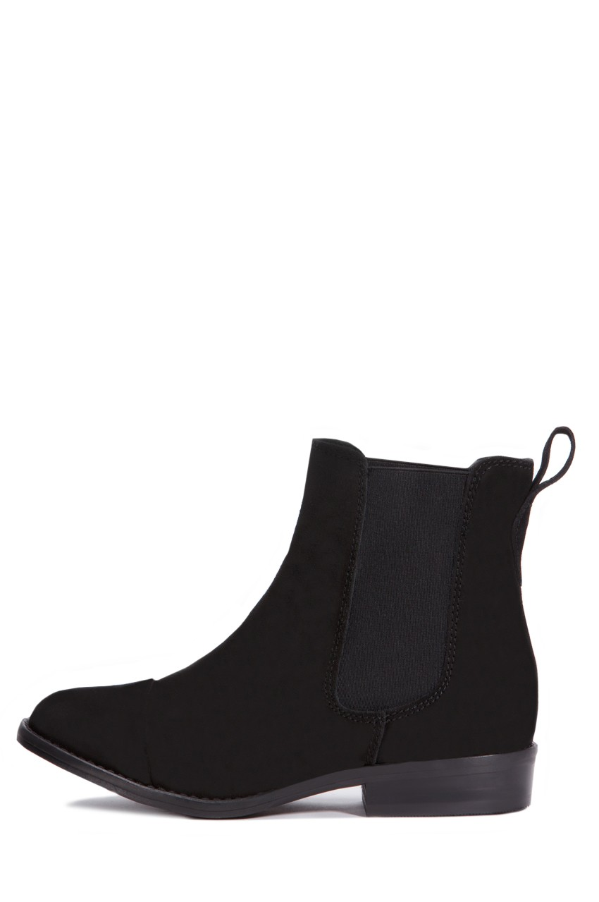 Jeffrey Campbell Areas Low Distressed Black Distressed Low Suede Rustic Boot Gored Chelsea Boot 5ba024