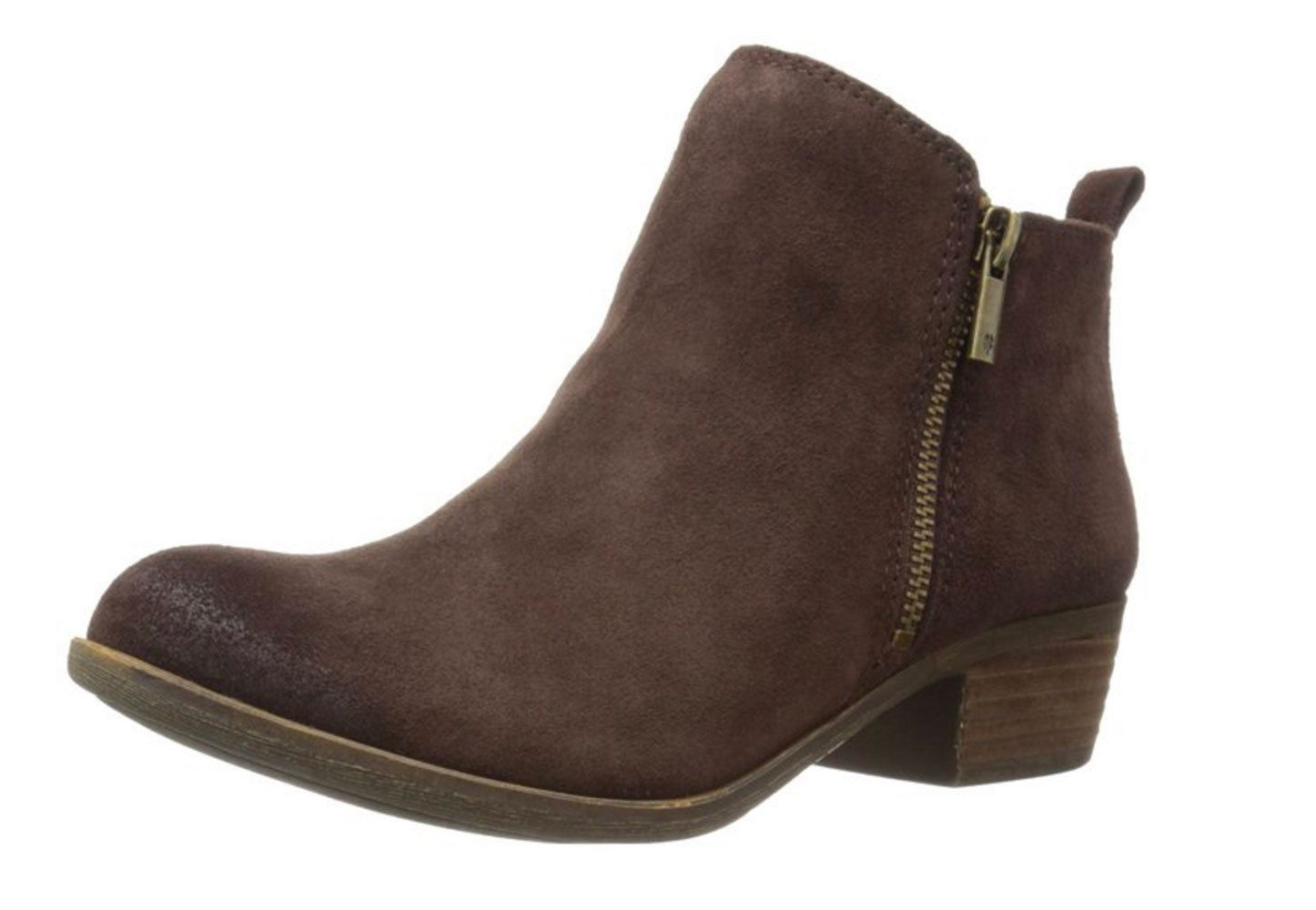 Lucky Brand Lk-Basel Ankle Bootie Java Suede Low Boot Cut Boot Low Basel 54fe12