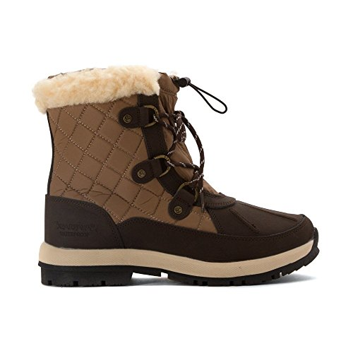 Bearpaw Bethany Sheepskin Boot Waterproof 6 In Snow Boot Sheepskin Chocolate/Khaki Lace up c0a71d
