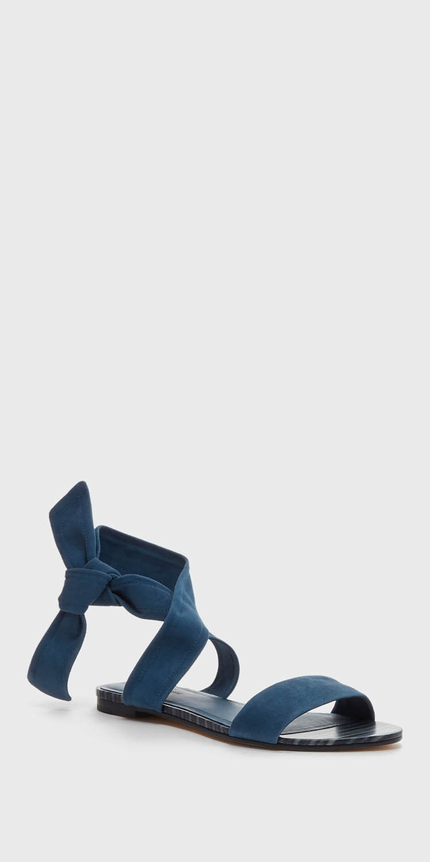 Pour La Victoire Lava Ankle Ankle Lava Strap Open Toe Block Heel Kid Suede Ocean Sandal a6eb14