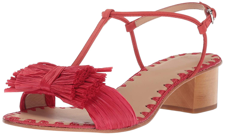 Pour La Victoire Julie Heeled Sandal Poppy Low Block Heel Open Toe City Heel