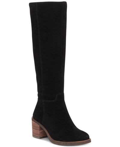 LUCKY BRAND RITTEN CHUNKY BLACK SUEDE KNEE HIGH CHUNKY RITTEN HEEL RIDING WESTERN STYLE Stiefel 19625d