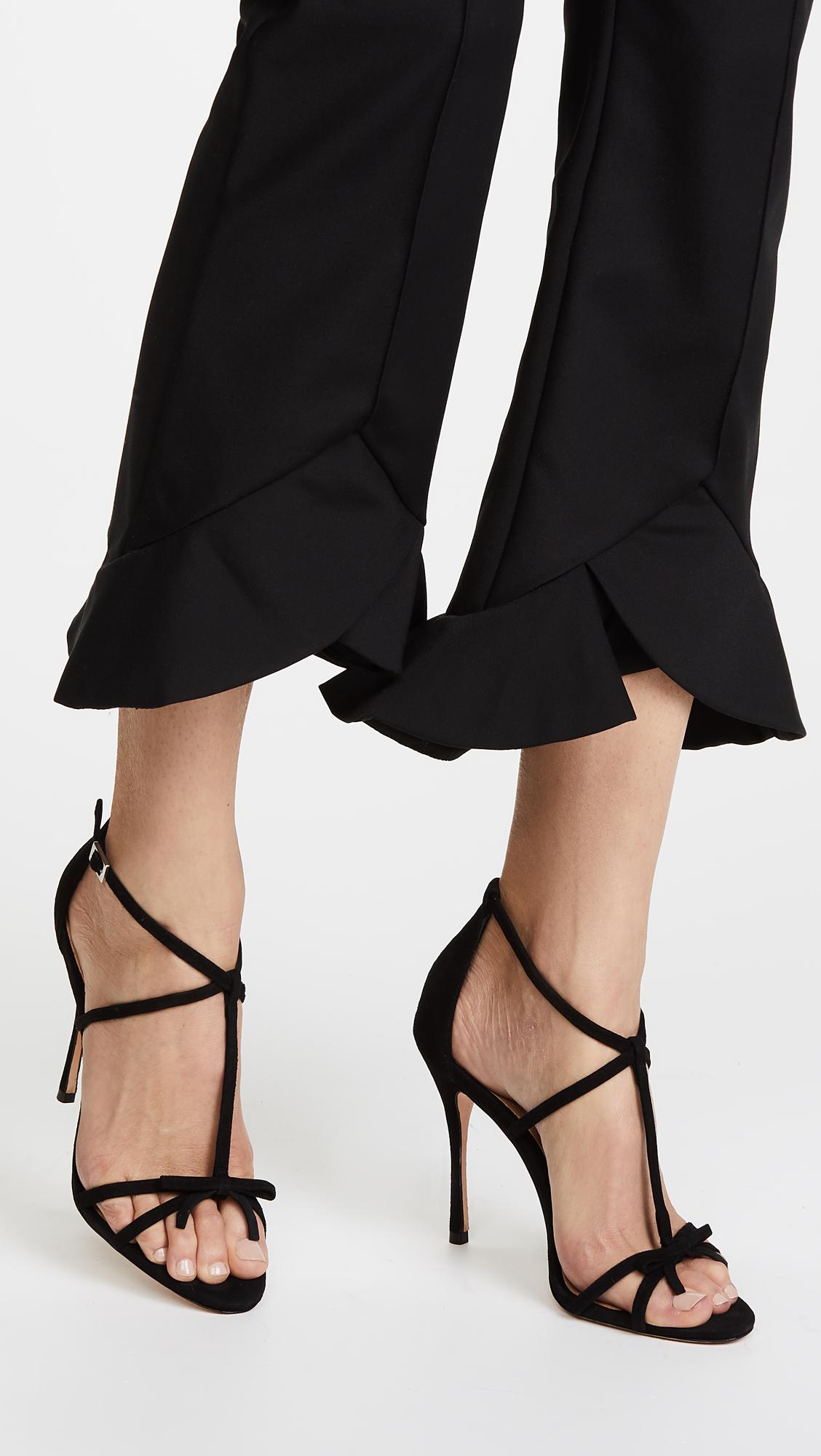 b9dc8e004d6 Women s Shoes Heels SCHUTZ Women s Sabina Strappy Sandals Black Nubuck Open  Toe Single Sole Pumps
