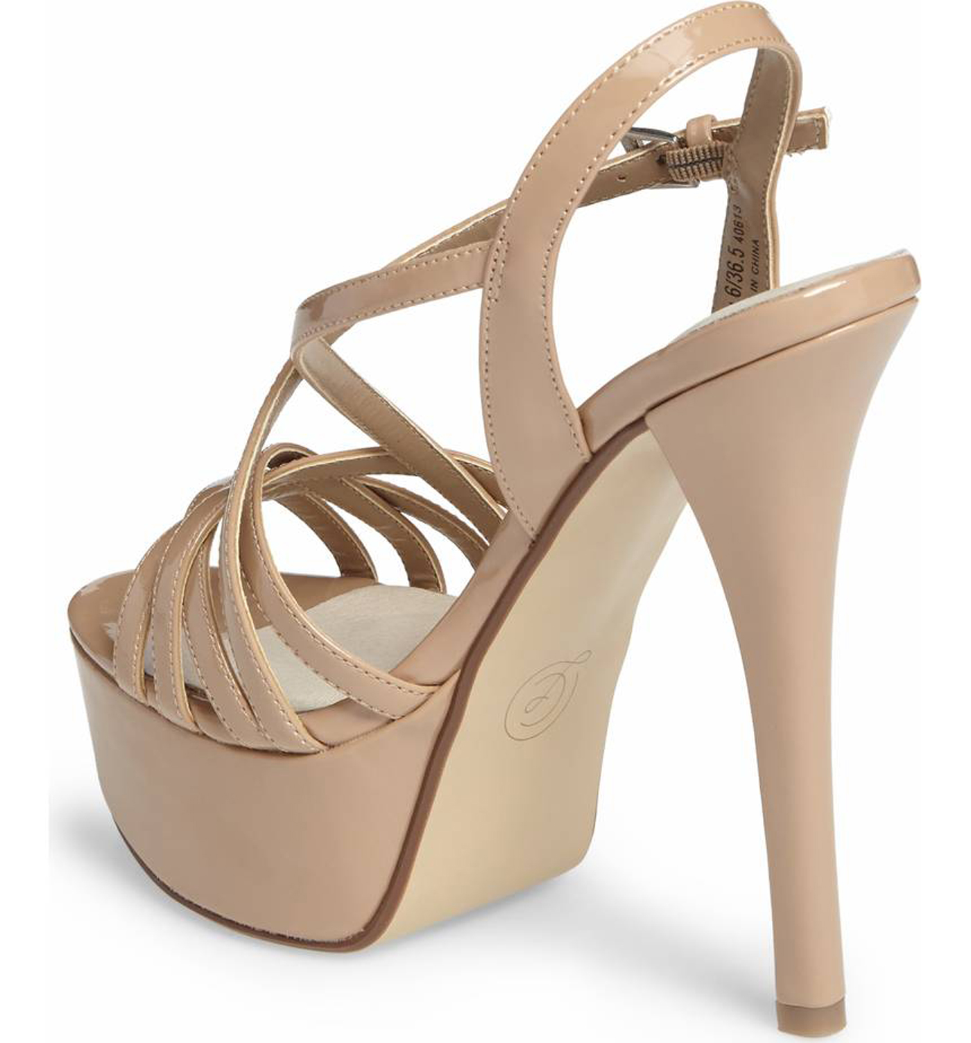 chinese laundry teaser platform dress sandal nude patent super high