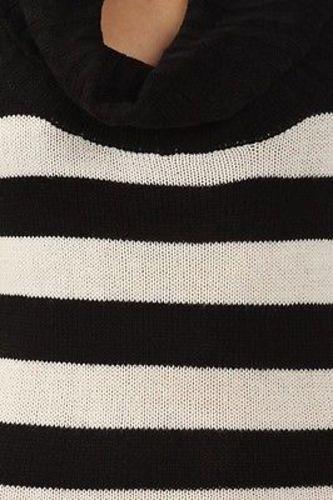 Juniors-Stripe-Cowl-Neck-Slim-Jumper-Knit-Mini-Dress-Tunic-Sweater-Comfy-Top thumbnail 57