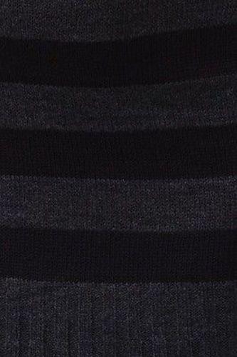 Juniors-Stripe-Cowl-Neck-Slim-Jumper-Knit-Mini-Dress-Tunic-Sweater-Comfy-Top thumbnail 45