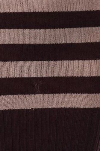 Juniors-Stripe-Cowl-Neck-Slim-Jumper-Knit-Mini-Dress-Tunic-Sweater-Comfy-Top thumbnail 33