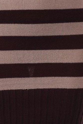 Juniors-Stripe-Cowl-Neck-Slim-Jumper-Knit-Mini-Dress-Tunic-Sweater-Comfy-Top thumbnail 38