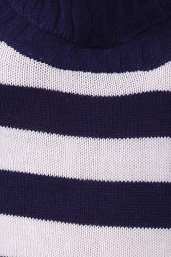 Juniors-Stripe-Cowl-Neck-Slim-Jumper-Knit-Mini-Dress-Tunic-Sweater-Comfy-Top thumbnail 26