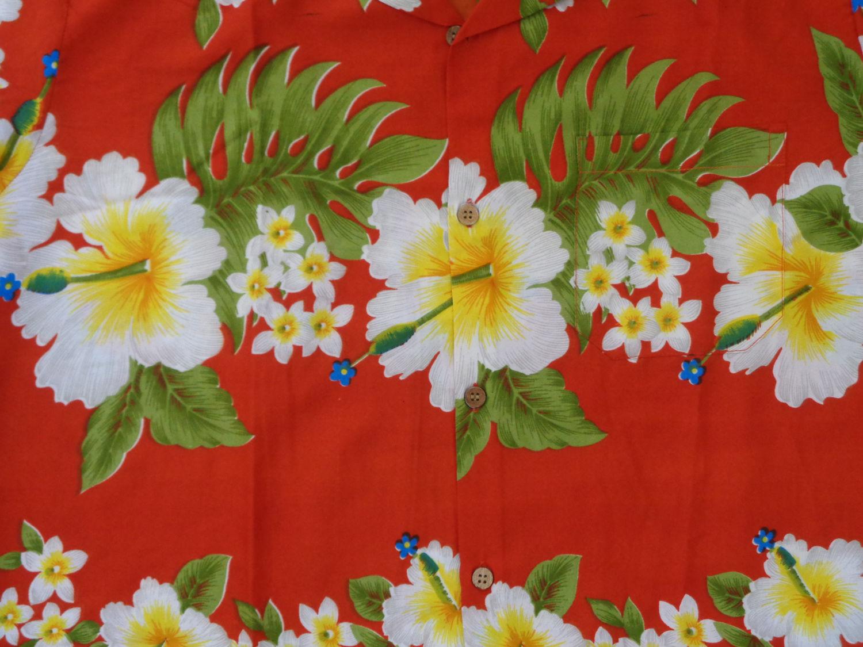 Hawaiian Shirt Mens Hibiscus Floral Print Aloha Party Beach Camp Ebay