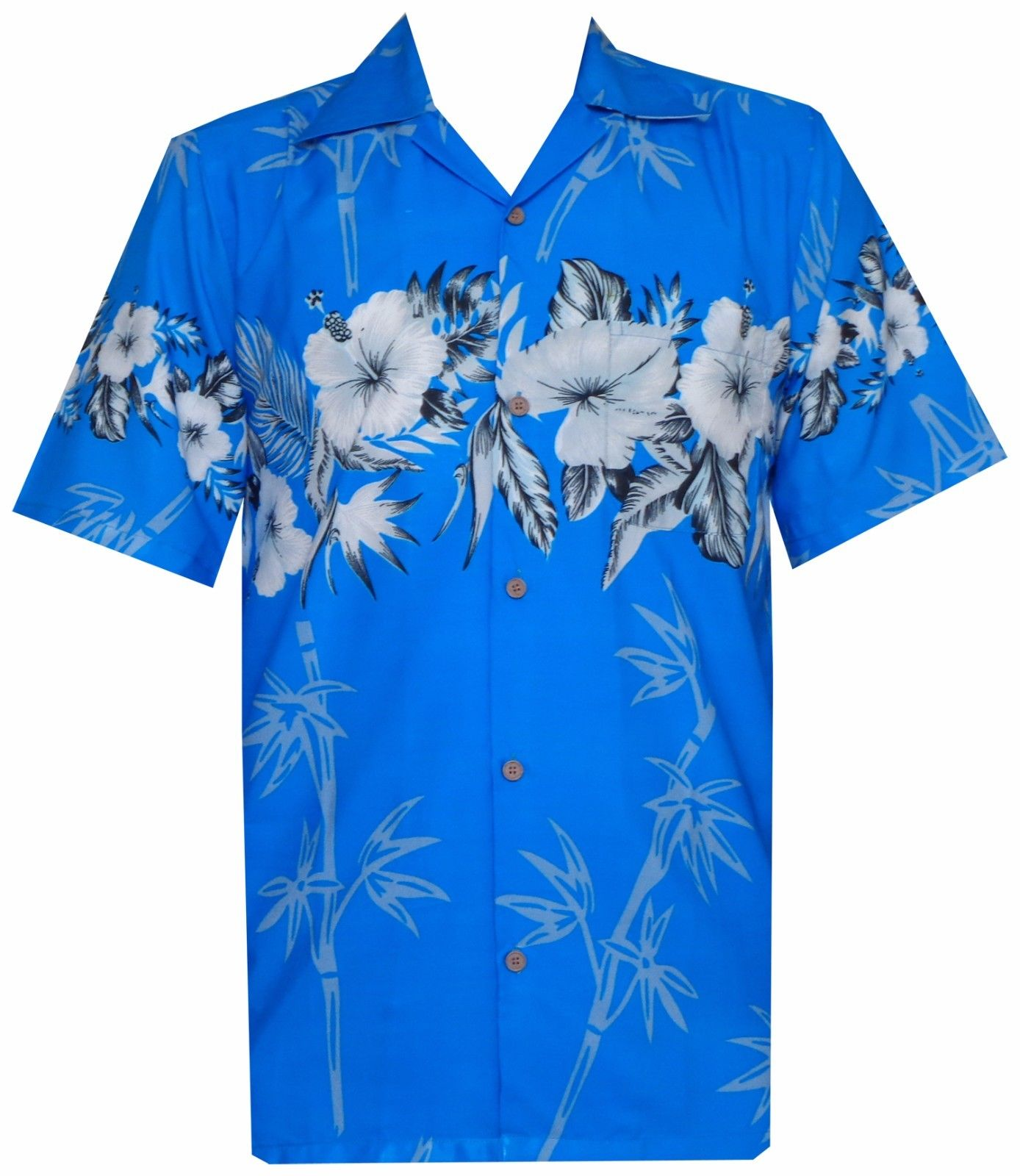 Hawaiian shirts mens bamboo tree print beach aloha party for Lsu hawaiian print shirts