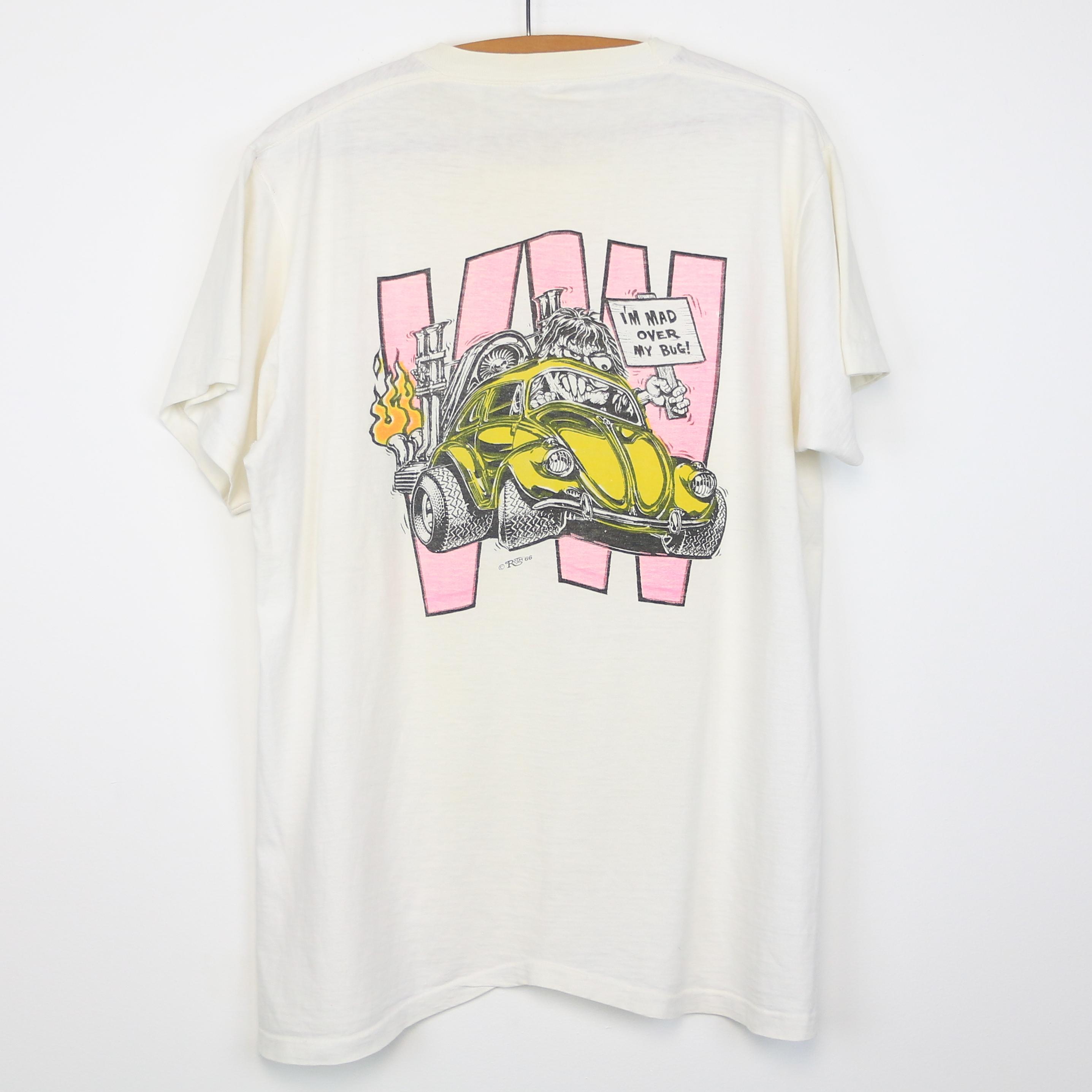 big daddy ed roth shirt vintage tshirt 1966 volkswagen tee mad over my bug 1960s ebay. Black Bedroom Furniture Sets. Home Design Ideas