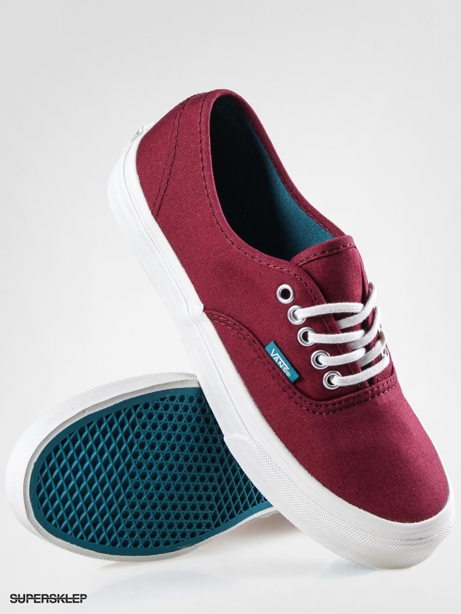 Vans AUTHENTIC SLIM (Pop) Cordovan/Deep Lake Unisex 10 Shoes (8.5 Men - 10 Unisex Women) 092520