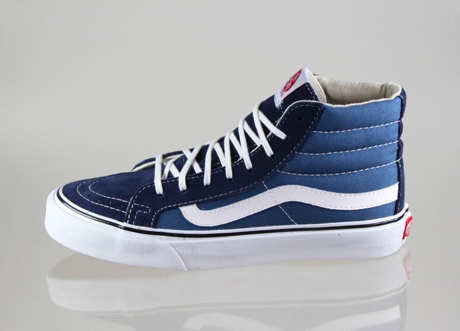 VANS SK8 HI SLIM Navy White Women s Shoes 10 -  54.00  b920645ec174