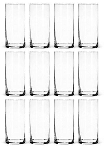 Clear Glass Cylinder Vases Bulk Set Of 12 For Wedding Reception