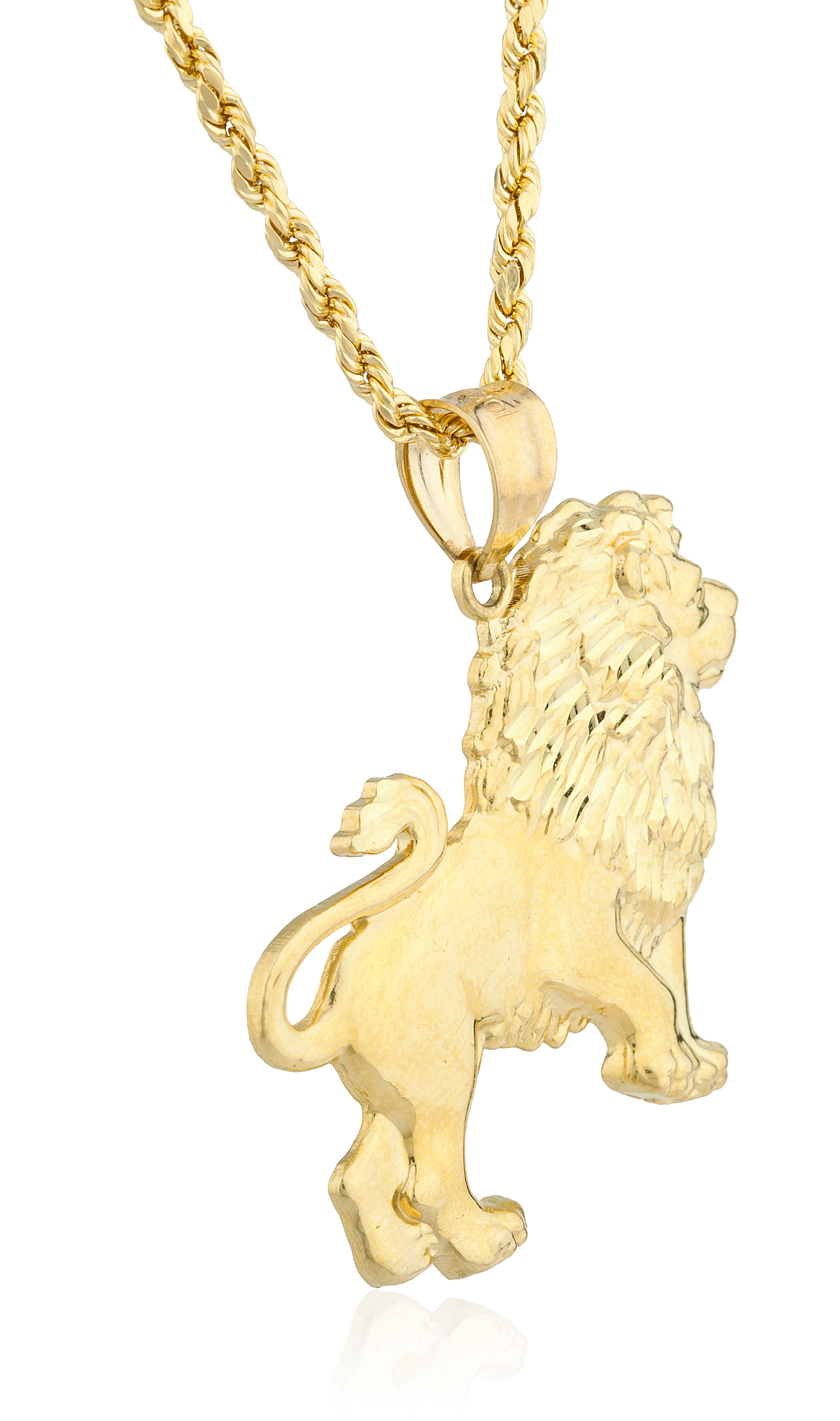 gold pendant necklace power jewelry dp amazon the of jungle plated get king com lion