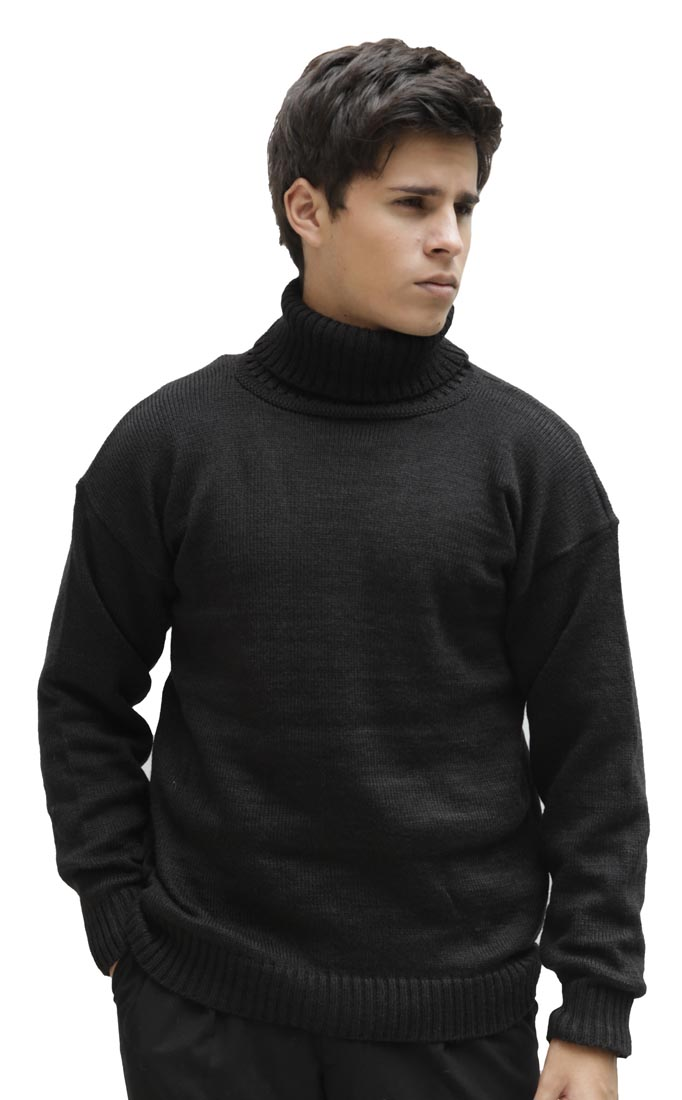 Men/'s Soft Alpaca Wool Knitted Turtleneck Solid Sweater