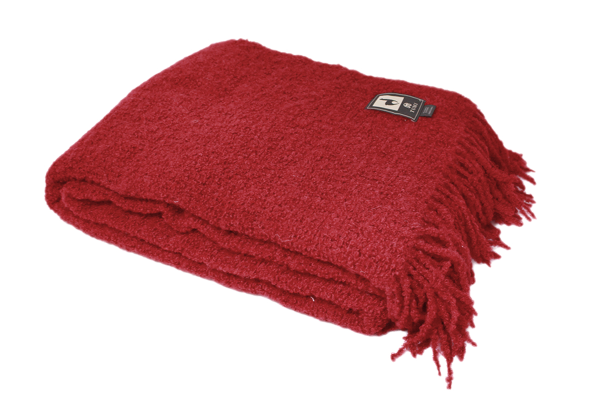 100 Alpaca Wool Boucle Superfine Wool Fringed Blanket