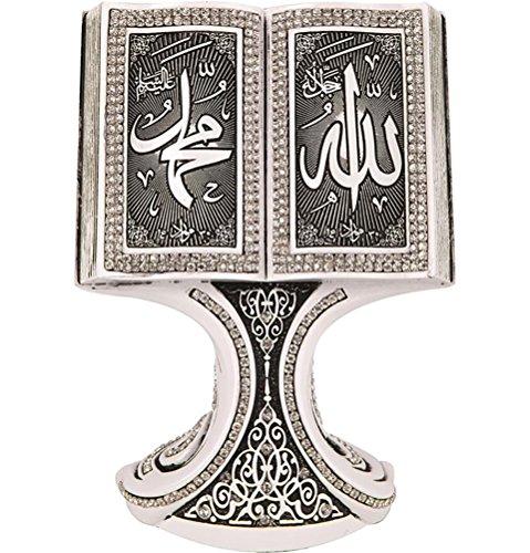 Islamic Decor Showpiece Eid Gift Quran Open Book Allah Muhammad