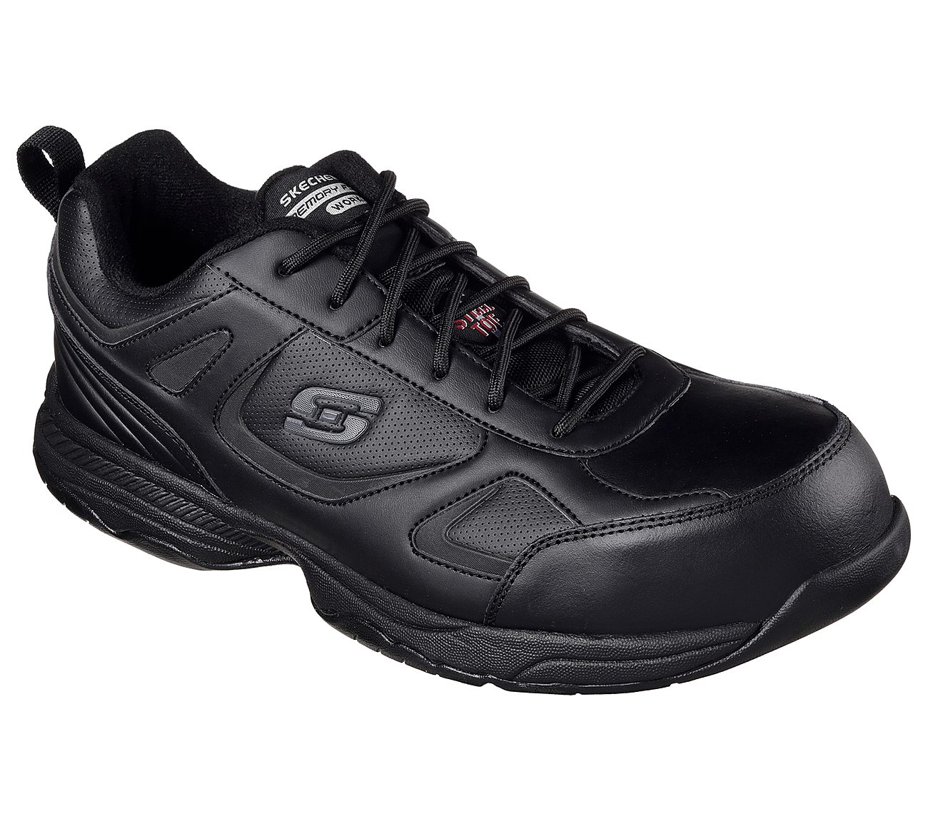skechers dighton woodsboro mens black slip resistant eh