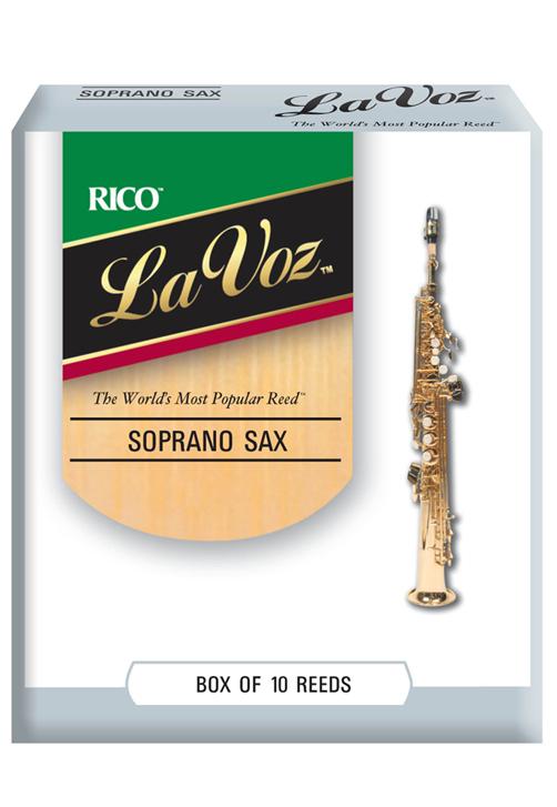 10-pack Strength Medium Strength Hard La Voz Soprano Saxophone Reeds