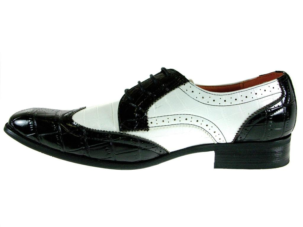Men S Oxford Black And White Shoes