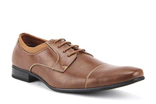 New Ferro Aldo Men/'s Cap Toe Lace up Classic Formal Wear Dress Oxfords Shoes