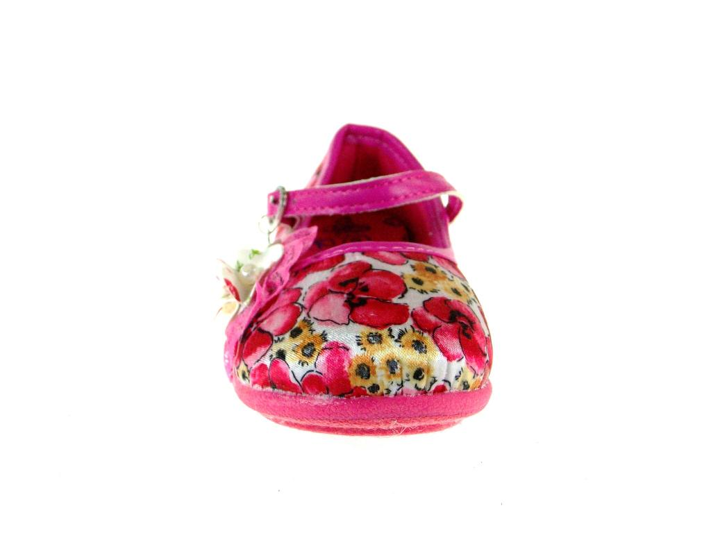 Girl/'s 253 Floral Design Mary Jane Flat Shoes