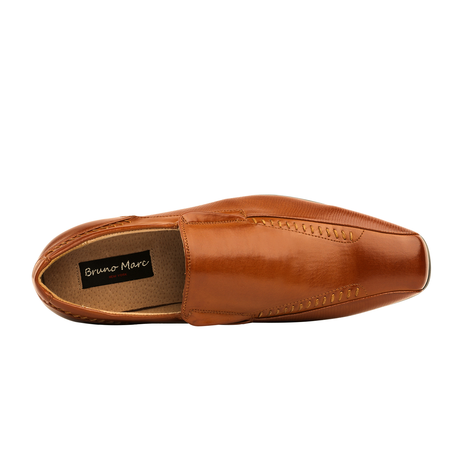 Men/'s Leather Lined Formal Dress Loafers Slip-On Classic Square Toe Shoes