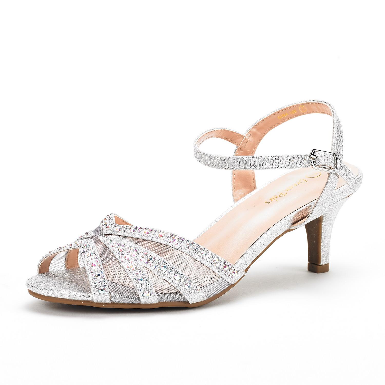 Nina women 39 s wedding dress rhinestones open toe classic for Heels for wedding dress