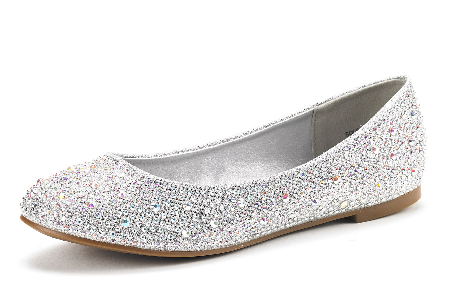 Silver Flat Ballet Shoes