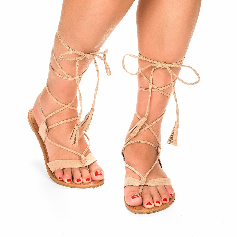 Sammy New Women Fashion Crisscross Lace Up Summer Gladiator Design Flat Sandals Ebay