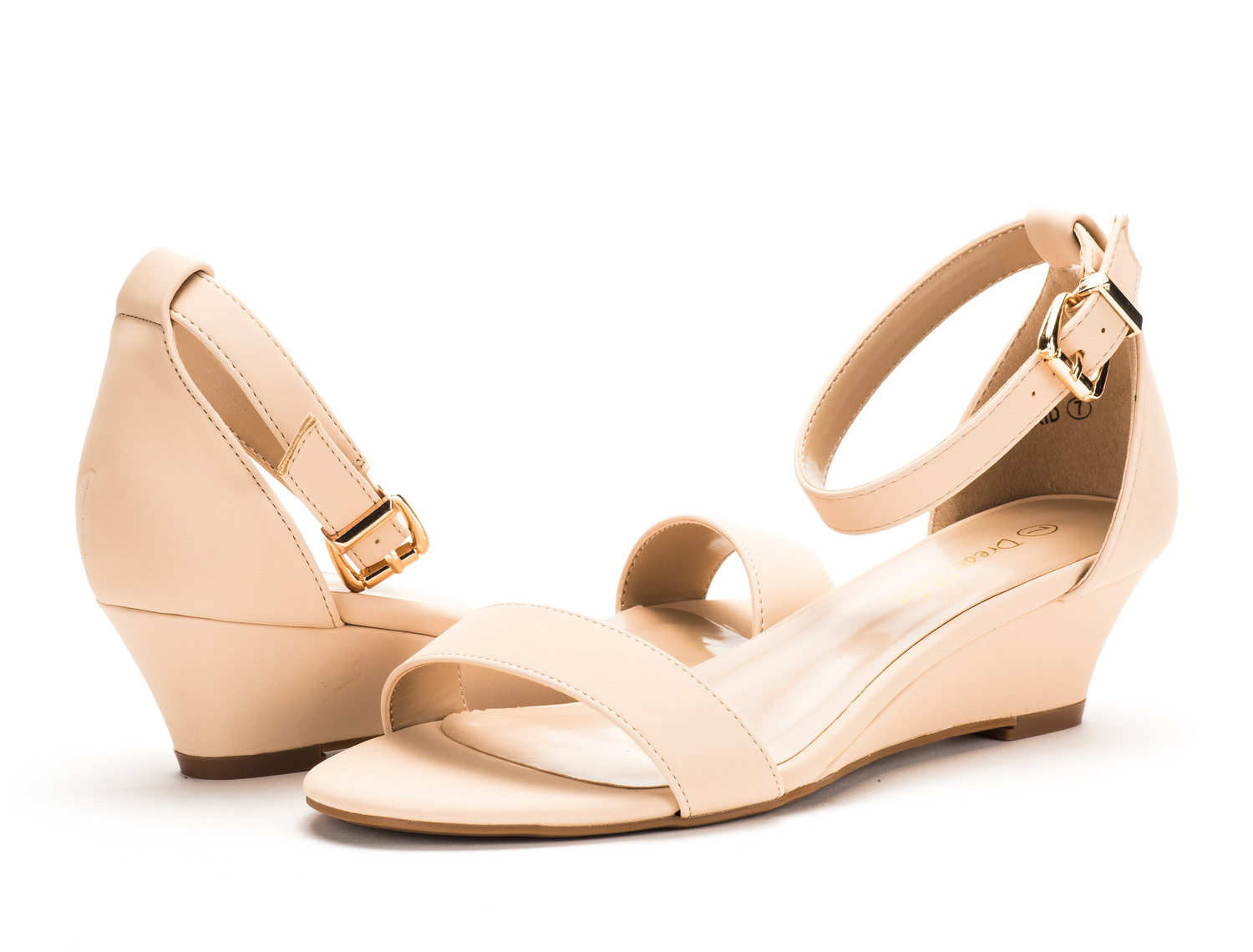 DREAM-PAIRS-Women-Open-Toe-Ankle-Strap-Buckle-Thong-Design-Low-Wedge-Sandals thumbnail 10