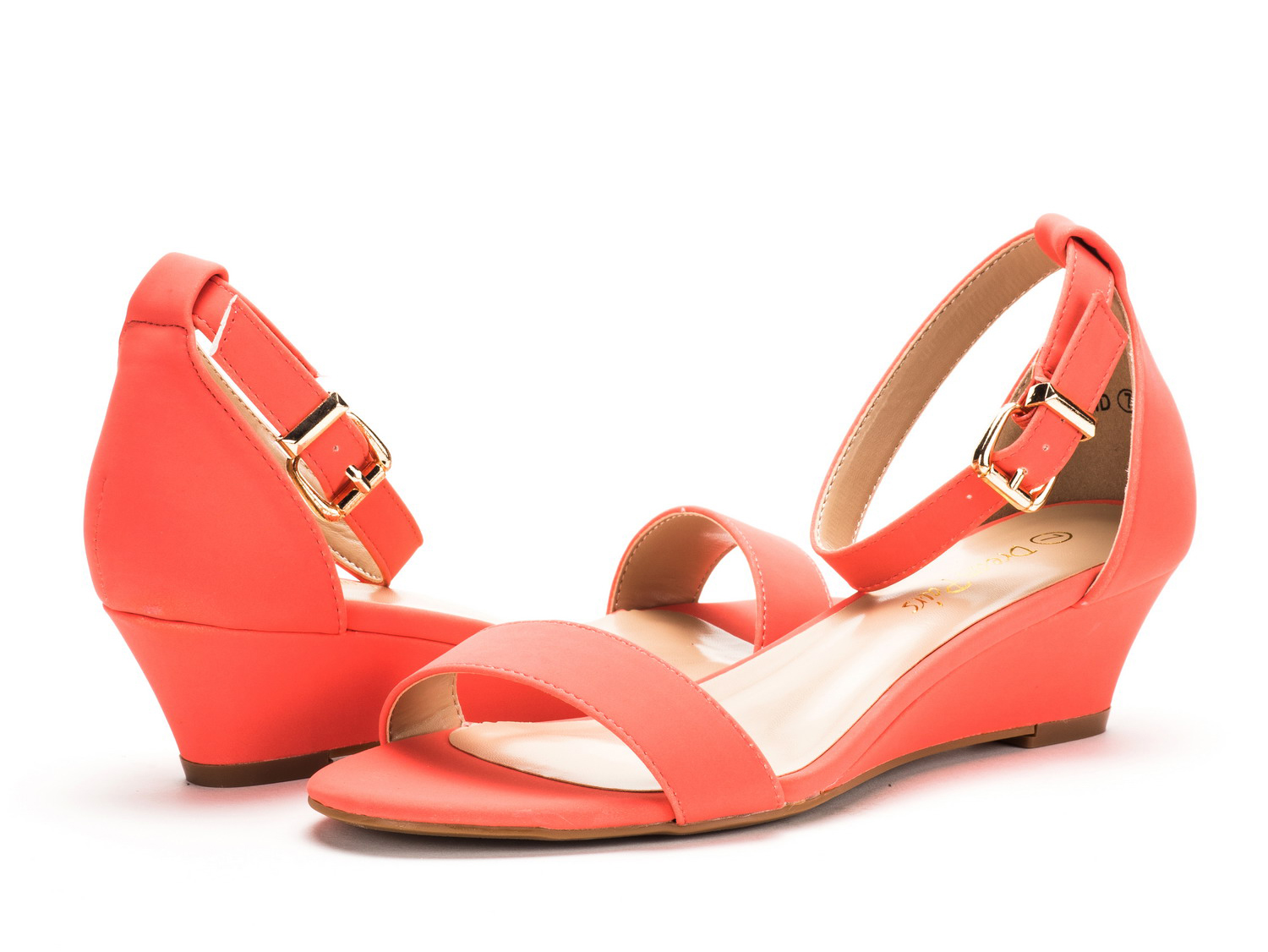 DREAM-PAIRS-Women-Open-Toe-Ankle-Strap-Buckle-Thong-Design-Low-Wedge-Sandals thumbnail 26