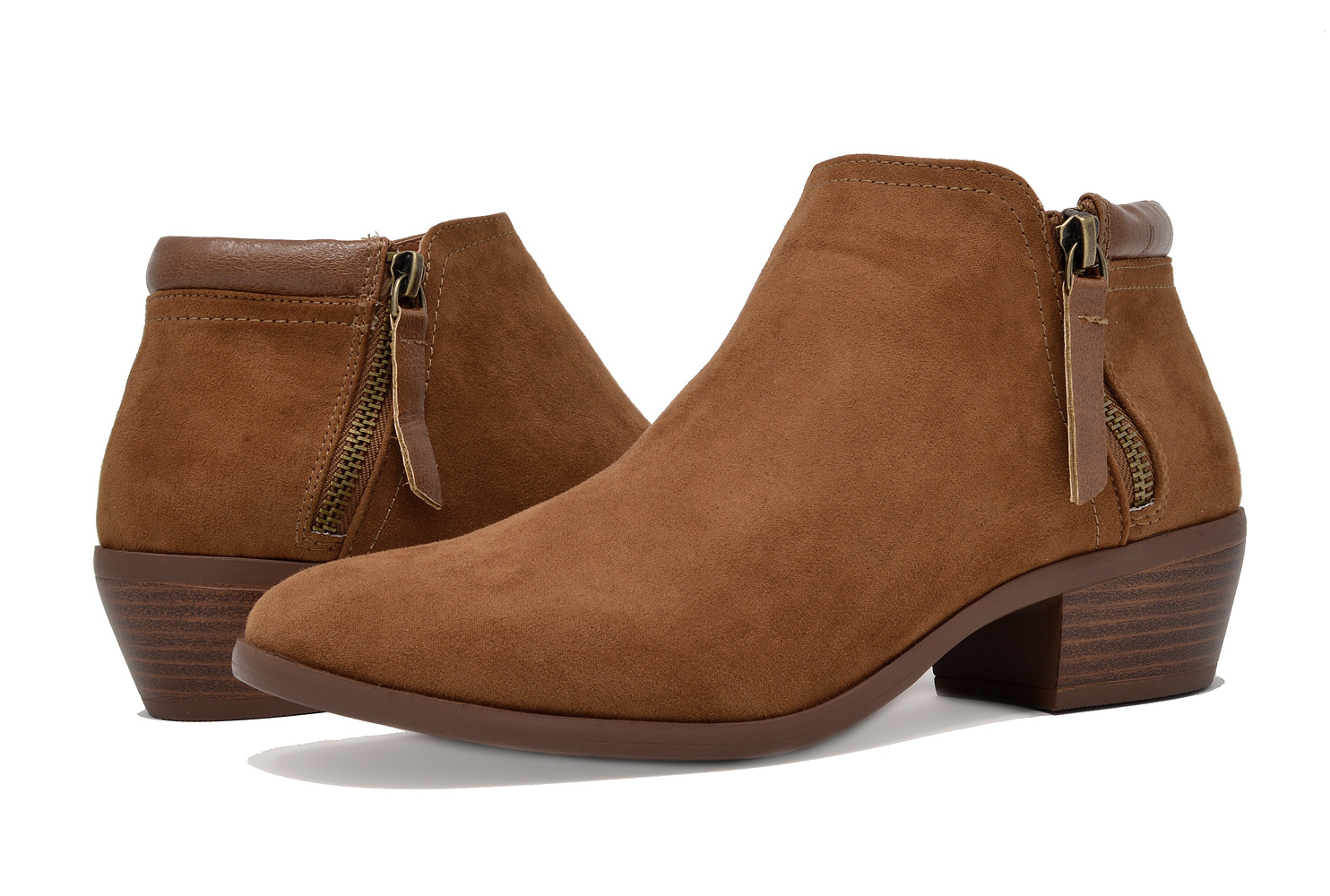 TOETOS BOSTON-02 Womens Street Suede Cowboy easy On Low Chunky Heel Ankle Boots