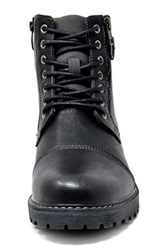 Men/'s Winter Motorcycle Work Lace Up  Boots Combat Oxford Shoes Size 6.5-15 US