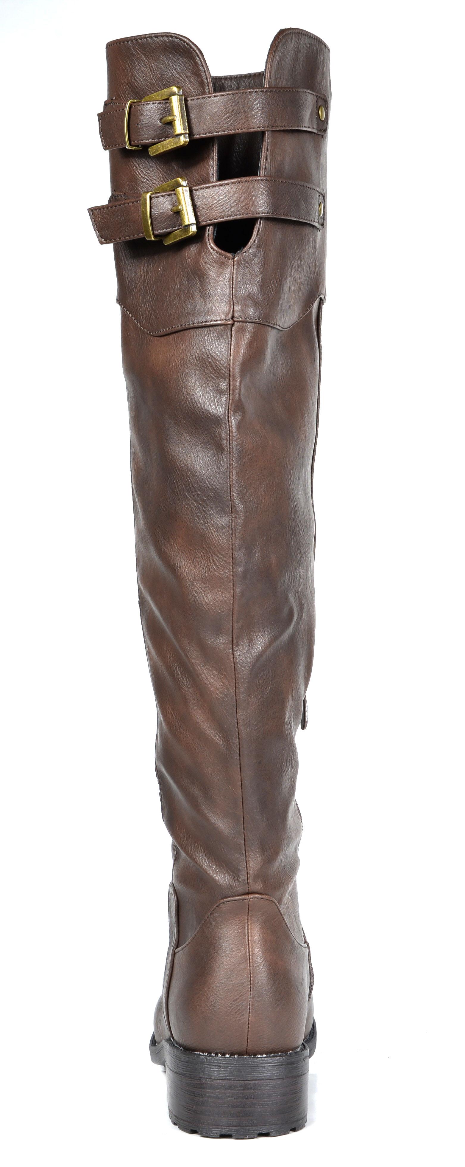 f8cb7751deb DREAM PAIRS Women s Knee High Military Combat Boots (WIDE CALF ...