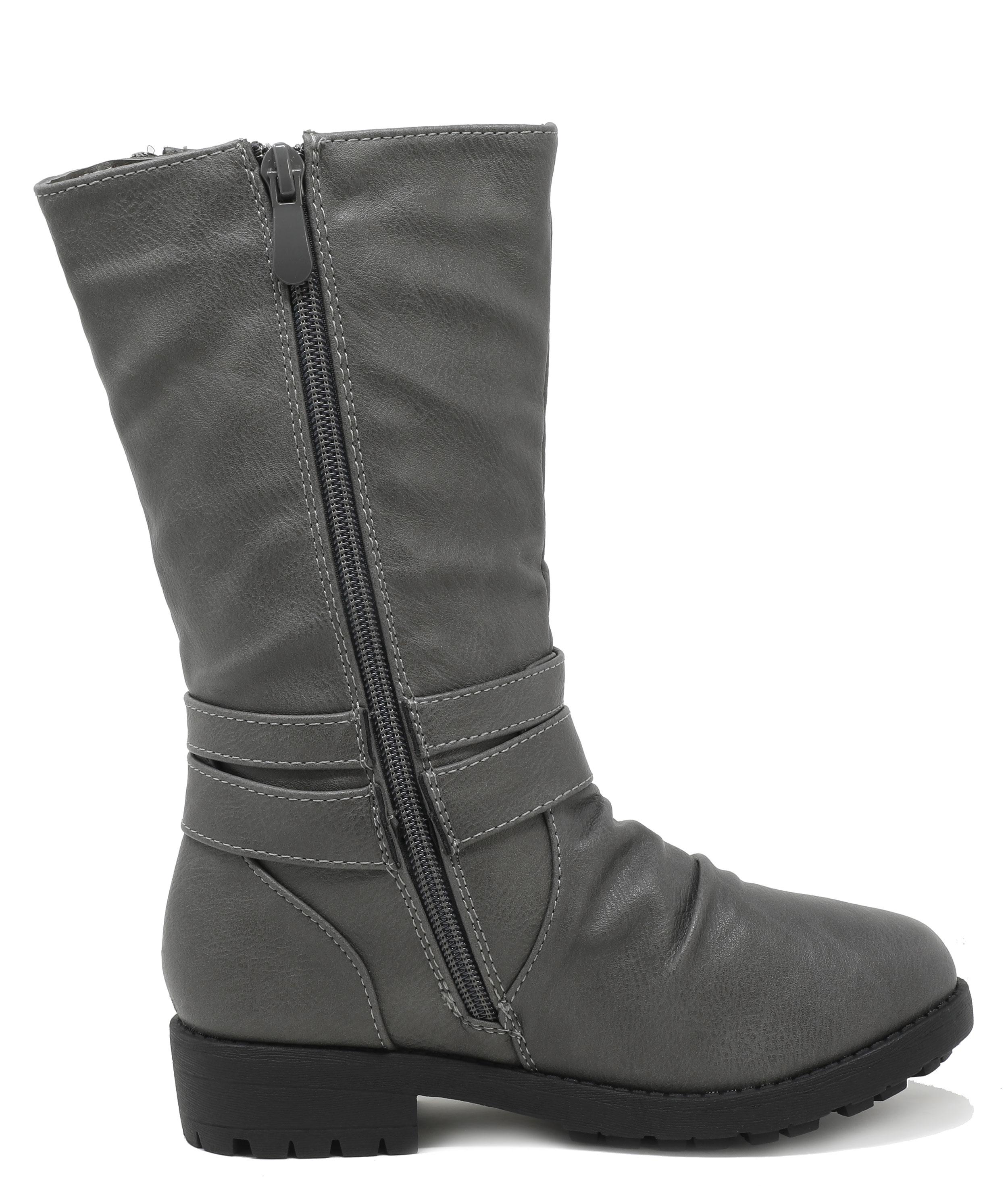 DREAM PAIRS Girls Boys ATLANTA-K Toddler//Kid New Knee High Mid Calf Winter Boots