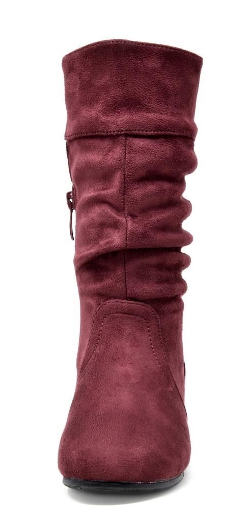DREAM PAIRS Girls Toddler//Big Kid Walking Mid Calf Knee High Winter Riding Boots