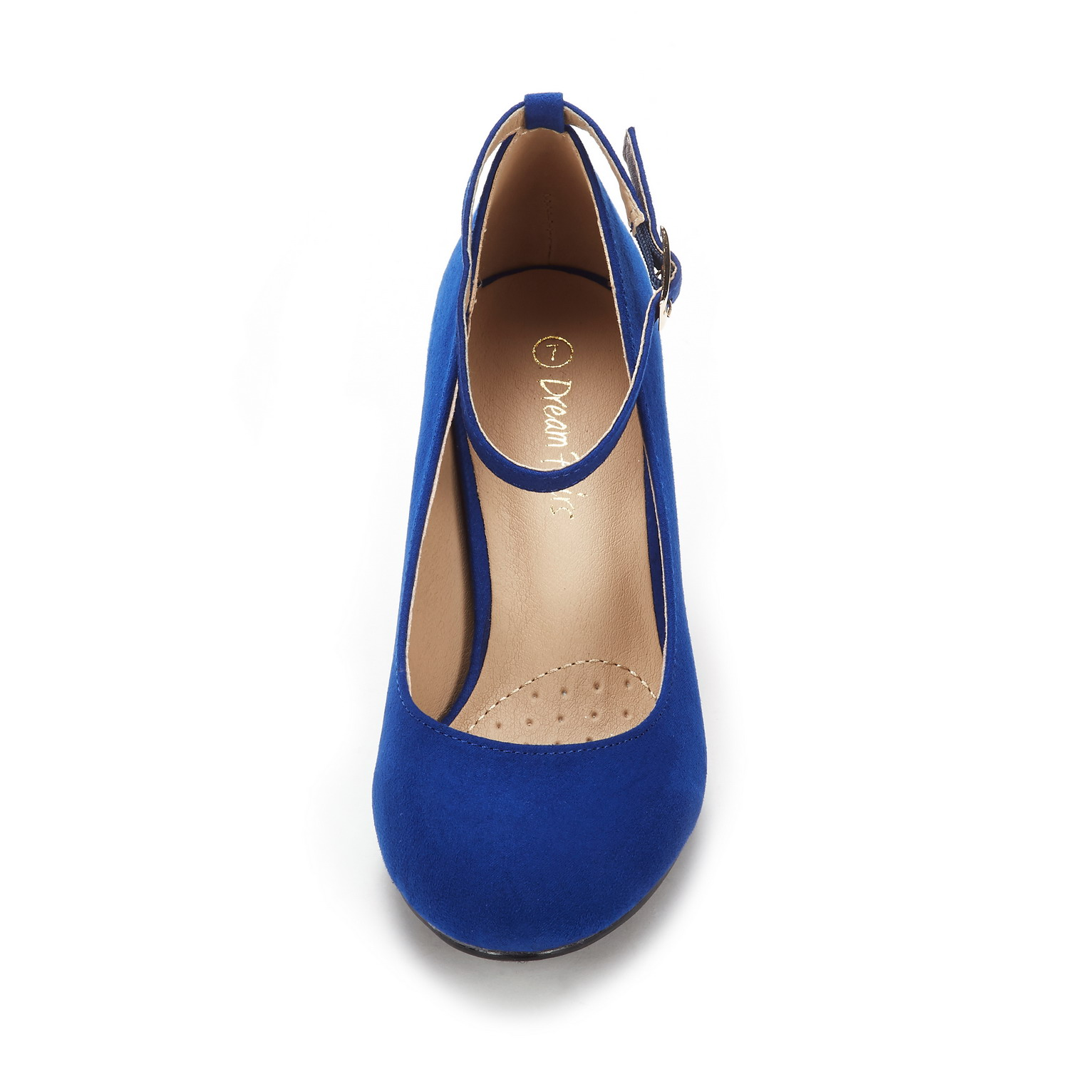 DREAM PAIRS Women/'s Demilee High Chunky Heel Ankle Strap Wedding Pump Shoes