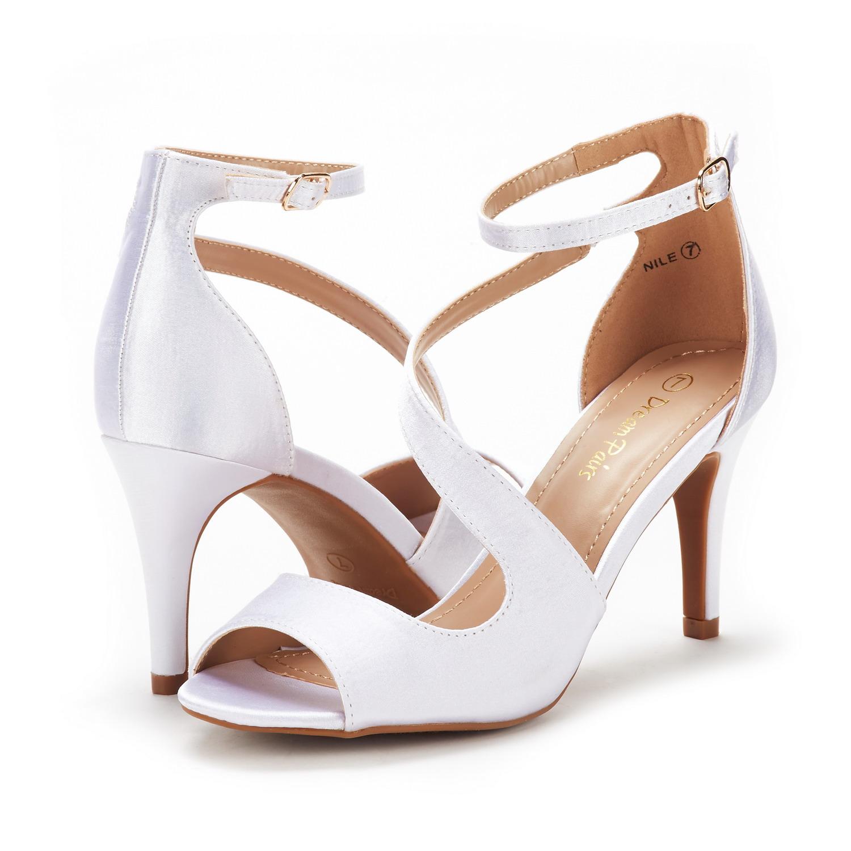 DREAM PAIRS Womens NILE New Dress Stilettos Open Toe Wedding Pumps Heel Sandals