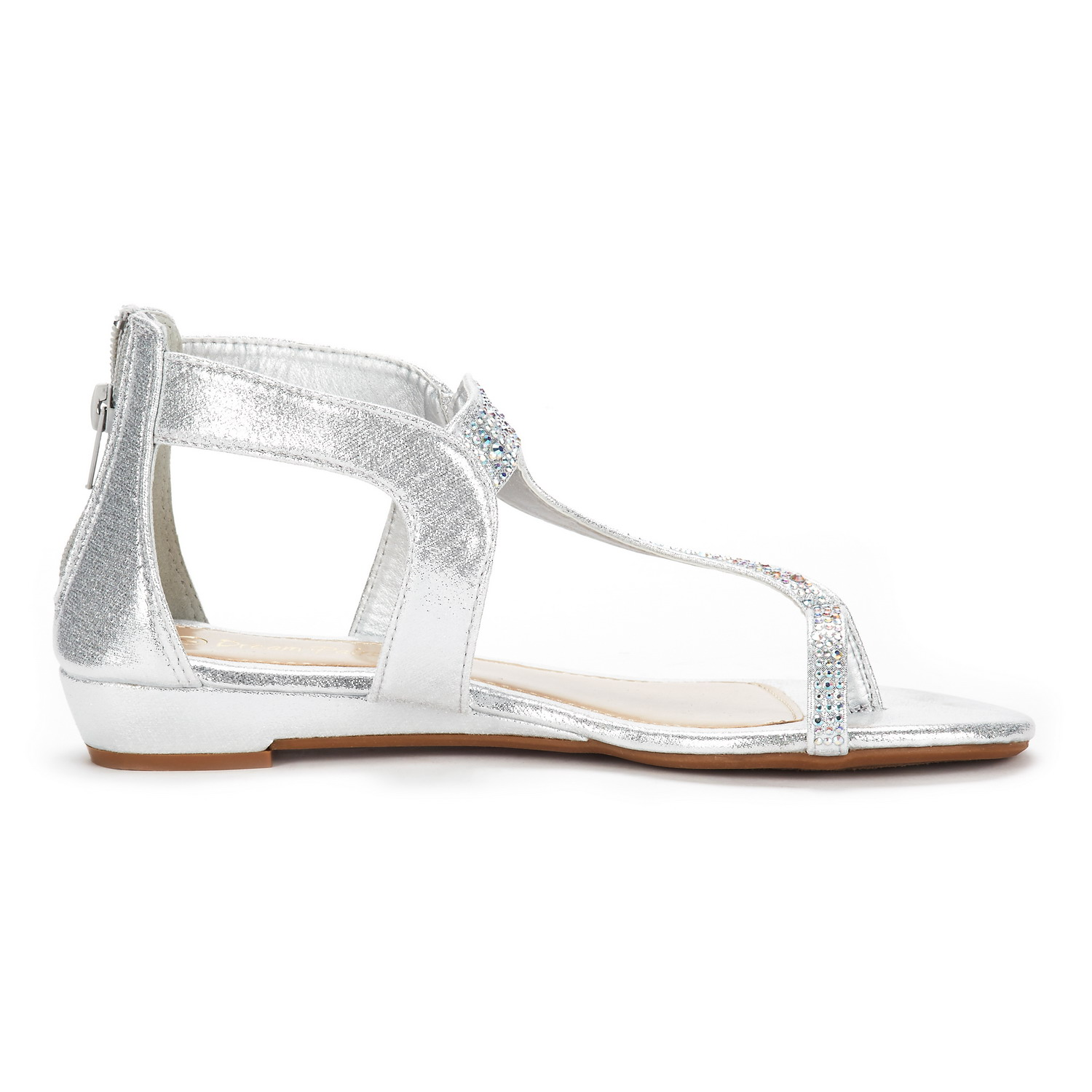 Dream Pairs Women S Weitz Ankle Strap Rhinestones Low