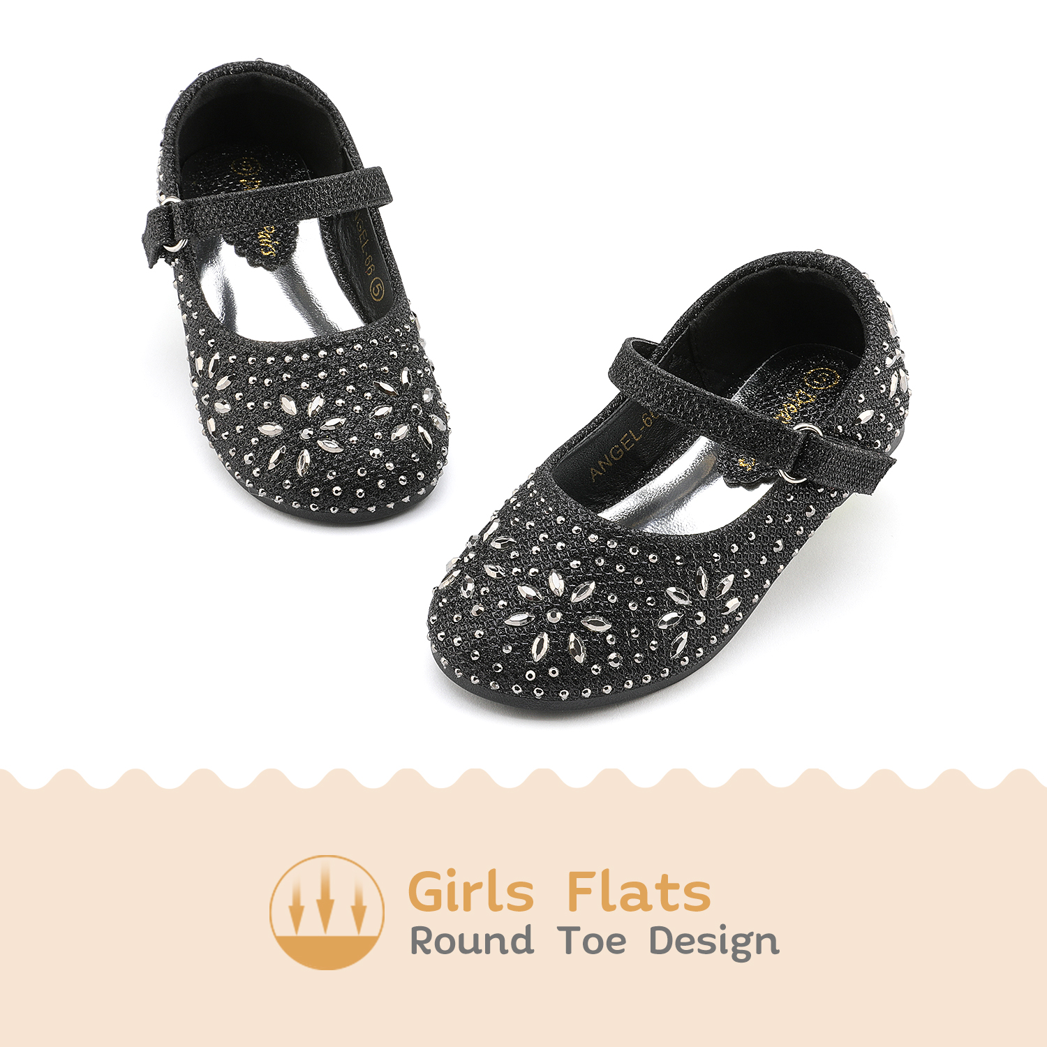 DREAM PAIRS Kids Girls Toddlers Infant Mary Jane Flats Shoes Princess Dress